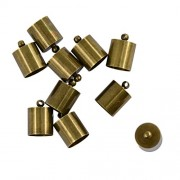 Segolike 10pcs 10mm Brass Bronze End Caps Craft Bell Shape Beads for DIY Crafts Jewelry Findings Cords