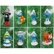SMURFS Christmas Ornaments Featuring 12 Smurfs Ornaments with Papa Smurf Smurfette Brainy Smurf Gargamel Azrael and