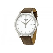 Tissot T Classic Tradition Silver Dial Brown Leather Men's Watch T0636101603700 Silver