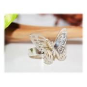 Bague Papillon Ciselée Argent