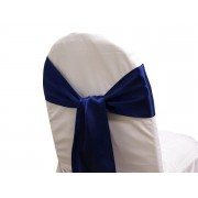 Satin Chair Sashes - Navy Blue - Packet of 5