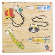 Skillofun Wooden Junior Identification Trays - Medical Instruments