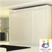 Guarda Roupa Branco Glamour 3 Portas