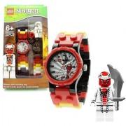 Lego Year 2012 Ninjago Series Watch with Minifigure Set #9004926 - SNAPPA Watch Plus Snappa Minifigure with Sword (Water