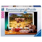 Ravensburger 19374 - Puzzle 1000 Pezzi, Visitatori Notturni, Cartone