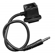 Miniphone 3.5mm jack Cord Flash hot Shoe Adapter for Pocket Wizard