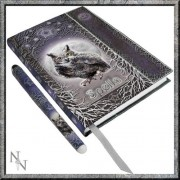 """Luna Lakota Spells Owl 6.75"""" Hard Cover Embossed Collector Journal Book with Pen"""