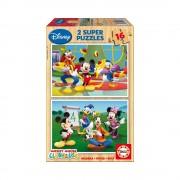 Educa Disney Mickey egér és barátai fa puzzle, 2x16 darabos