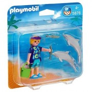 Playmobil Duo Pack Dolphins And Trainer Set