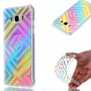 Galaxy J5 (2016) Coque, Saturcase Beautiful Plating Ultra Mince Flexible Doux Tpu Gel Silicone Arrière Housse Coque Étui Pour Samsung Galaxy J5 (2016) Sm-J510f (Design-1)