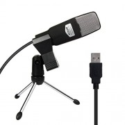 TOCH USB Microphone Condenser Broadcast Studio Mic with Shock Mount Stand Mini Recording Microphone