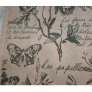 Lepkés virágos karton maradék, drapp 4db egyben/017/Cikksz:1231408