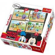 Trefl 4-In-1 Puzzle On The Farm Disney Standard [Toy]