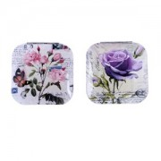 Espejo Aluminio Flores con bolsa organza