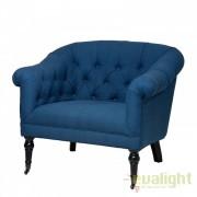 Fotoliu elegant si confortabil Bentley Albastru 108101 HZ