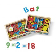 Melissa and Doug Deluxe Magnetic Letters and Numbers in a Box Bundle