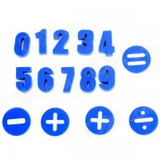 FUNI CT-992 Arithmetic Learning Numbers Magnetic Button - Blue (15 PCS)