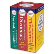 """Merriam Webster Language Reference Set, 3 Paperbacks, 4-1/2""""x7"""", Assorted, Sold as 1 Each"""