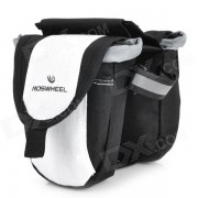 Bike Bag Outdoor bicicletas Tube Top Doble - Negro + Blanco
