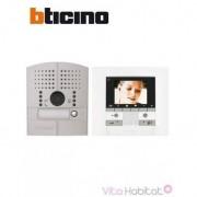 BTICINO Kit Interphone vidéo BTICINO POLYX MEMORY DISPLAY - Platine à encastrer - 1 appel - BTICINO 369511