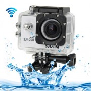 SJCAM SJ4000 WiFi Full HD 1080P 12MP Diving Bicycle Action Camera 30m Waterproof Car DVR Sports DV with Waterproof Case(White)