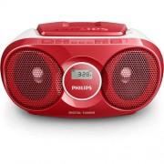 CD Audio System, Philips AZ215R, 2x1W RMS, FM/MW, Red
