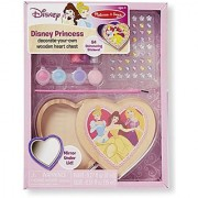 Melissa & Doug Disney Princess Decorate-Your-Own Wooden Heart Chest