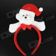 Cute Polar Bear Style Headdress Christmas Objects - White + Red