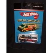 Hot Wheels Super Chromes Classic Nomad Chrome with Red Flames and Red Line Wheels 1:64 Scale by Hot Wheels