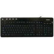Tastatura A4Tech KD-126-1 Iluminata, leduri albastre (Neagra)