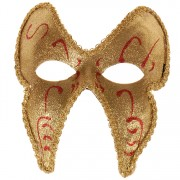 Masker goud glitters