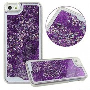 Aeoss ® Iphone 7 / 7 Plus Case, Iphone 7 / 7 Plus Liquid Case, Glitter Sparkle Bling Flowing Floating Case For Iphone 7 / 7 Plus (Purple Iphone 7 Plus)