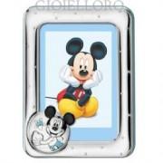 cornice portafoto in argento mickey mouse 9x13 cm