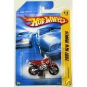 Mattel Hot Wheels 2007 New Models 1:64 Scale Red Wastelander Die Cast Motorcycle #011 by Mattel