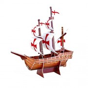 Imported 3D Puzzle Santa Maria Mini Ship Series Jigsaw Model DIY Educational Toy