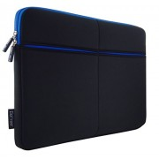 GoFree Slim Line 13 inch Laptop Sleeve for Macbook Air / Pro & Laptops Up to 13.3 inches (Black:Blue)