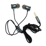 JusPic8 OTD Metal Earphone/Handsfree Compatible For Huawei Honor 4X - Metallic Grey