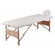 Masszázs ágy két zónás, hordozható, összecsukható, fehér színű 9752310