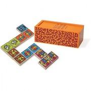 Vilac 28 Piece Dominos Set by Keith Haring