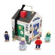 Melissa & Doug Deluxe de madera timbre casa juguete/juego/Play niño/niños/niños