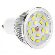 5W GU10 Lâmpadas de Foco de LED 15 SMD 5730 100-550 lm Branco Quente Regulável AC 220-240 V