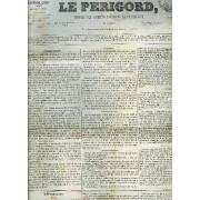 Le Perigord Journal Des Interets Nationaux Et Provinciaux N°109 1843 - Périgueux - Résignation (Suite) - Discours D'o'conell A Dublin - Cour D'assises De La Dordogne Vol Jean Lesfargues ...