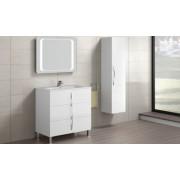 Set mobilier Gala Emma Cuarzo, alb lucios ,trei sertare cu lavoar Gala Emma -7902401