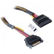 Cablu prelungitor Akasa SATA power extension 300mm, black, AK-CBPW04-30
