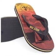 Big Star Klapki / japonki męskie Big Star U174204 - czarne