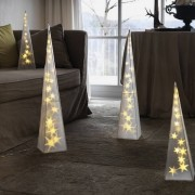 Konstsmide LED Kunststoffpyramide, warmweiß, 32 LEDs
