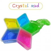 Hot Sale!!!OVERMAL 2PC Colorful Clay Slime DIY Non-toxic Crystal Mud Play Transparent Magic Plasticine Kid Toys