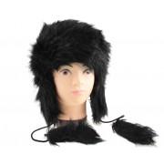 Zimowa czapka futrzana uszatka