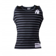 Gorilla Wear Stripe Stretch Tank Top Black - S/M