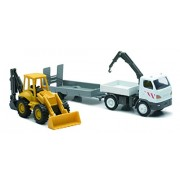 NEWRAY 33035 - Construction Machine Scala 1:43, Truck con Mounted Crane Scala 1:48, Backhoe Loader
